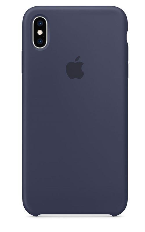 ,5% sur Coque en silicone Apple Bleu nuit pour iPhone XS Max , Etui pour  téléphone mobile , Achat \u0026 prix