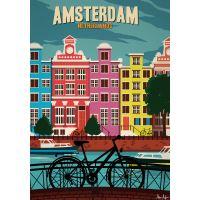 Affiche Sergeant Paper Amsterdam 30x42 cm Edition limitée signée