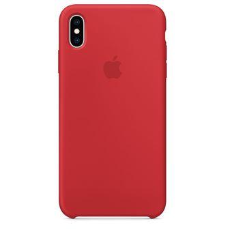 ... Coque en silicone Apple Rouge pour iPhone XS Max ...