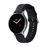 Montre connectée Samsung Galaxy Watch Active2 4G 44 mm Boîtier Acier Bracelet en cuir Argent