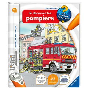 Livre Interactif Ravensburger Tiptoi Decouvre Les Pompiers