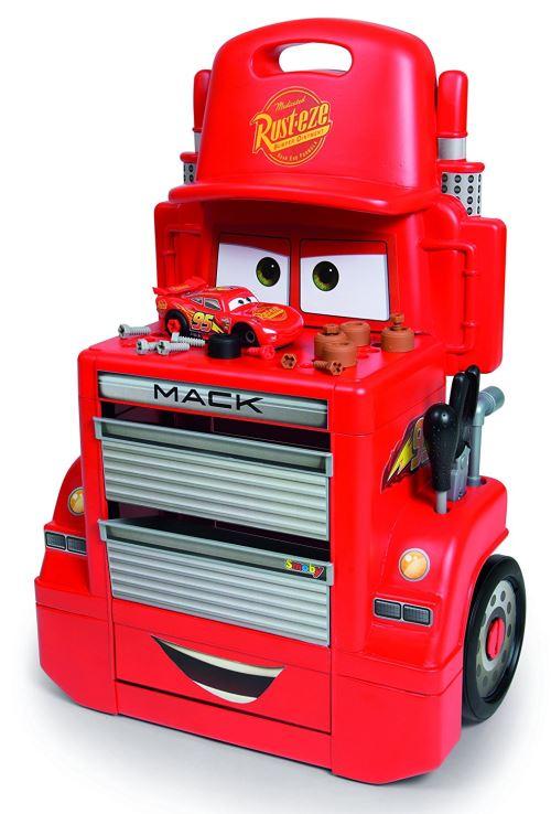 Servante Smoby Mack Truck Disney Cars 3 Accessoires et Voiture Flash Mc Queen