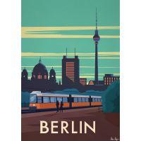 Affiche Sergeant Paper Berlin 30x42 cm Edition limitée signée