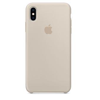 Coque en silicone Apple Gris sable pour iPhone XS Max