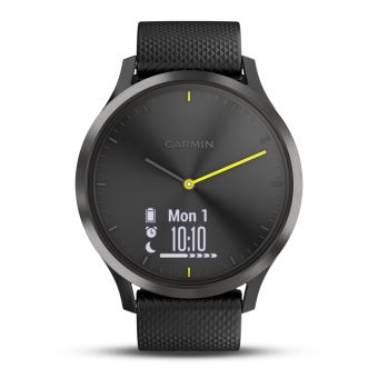 montre connect e hybride garmin vivomove hr noire taille l bracelet tracker d 39 activit. Black Bedroom Furniture Sets. Home Design Ideas