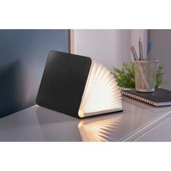 Lumière livre intelligente Gingko en cuir Grand Noir