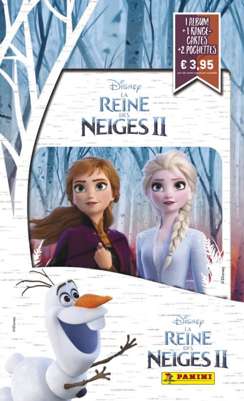 Album Porte Cartes Panini Disney Frozen La Reine des Neiges 2
