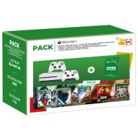 Fnac Pack Xbox One S + Gears 5 + Star Wars Jedi Fallen Order Deluxe Edition + Forza Horizon 4 + Red Dead Redemption 2 + Grand Theft Auto V Premium Edition + 2de controller + 3 maanden Xbox Live Gold Abonnement