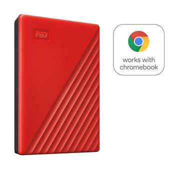 Disque Dur Externe Western Digital My Passport 2 To Rouge