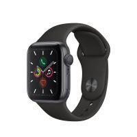 Apple Watch Series 5 GPS 40mm Behuizing in Aluminium Space Gray met Sport Armband Zwart