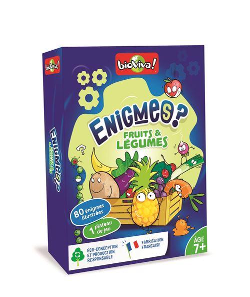 Jeu de cartes Bioviva Enigmes Fruits et Légumes