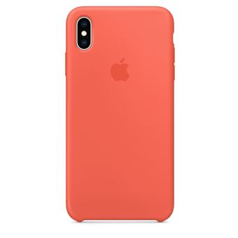 Coque en silicone Apple Nectarine pour iPhone XS Max