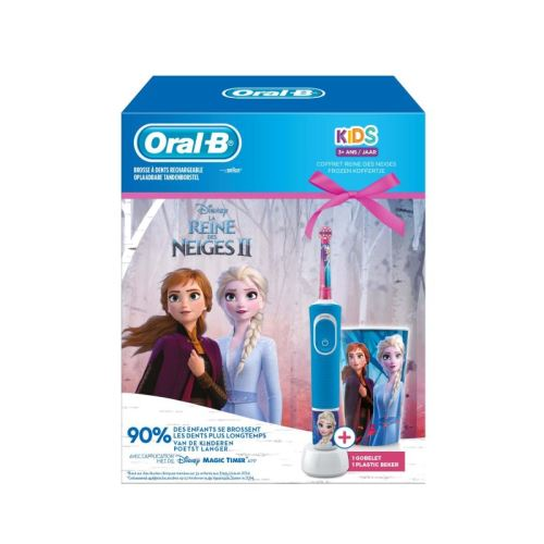 Brosse à dents électrique Oral B Kids Reine des Neiges Bleu