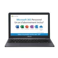"Ultra-Draagbare PC Asus E203MA-FD017TS 11.6""  Intel Celeron 4 GB RAM 64 GB eMMC + Microsoft 365 Personal (1 jaar) vooraf geïnstalleerd"