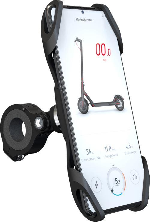 Support de téléphone Modelabs pour trottinette et vélo Noir