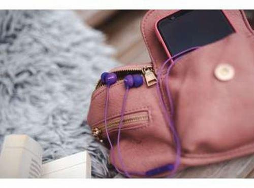 Ecouteurs Philips SHE2305PP Rose et Violet avec micro