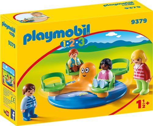 Playmobil 1.2.3 9379 Enfants et manège