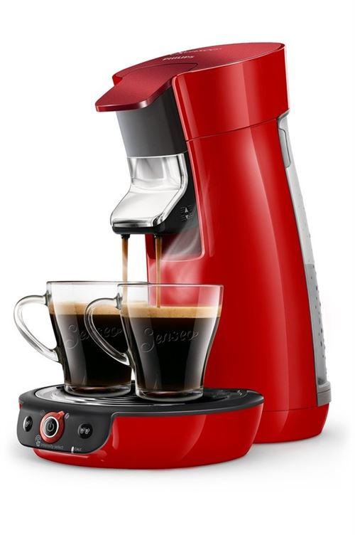 Machine à café à dosettes Philips Senseo Viva Café HD6564/81 1450 W Rouge