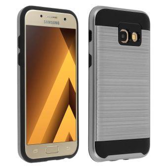 Coque Antichoc Ultra-résistant Bi-matière Samsung Galaxy A3 2017 - Noir Gris  - Etui pour téléphone mobile - Achat   prix   fnac e50ff4b24e90