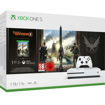 XBOX ONE S 1TB WHITE + TOM CLANCY'S THE DIVISION 2
