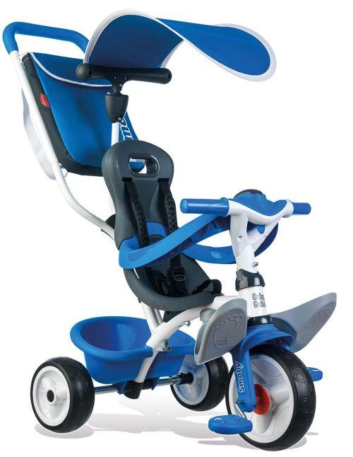 Tricycle Evolutif Baby Balade Smoby Roues Silencieuses Bleu - Tricycle. Achat et vente de jouets, jeux de société, produits de puériculture. Découvrez les Univers Playmobil, Légo, FisherPrice, Vtech ainsi que les grandes marques de puériculture : Chicco,