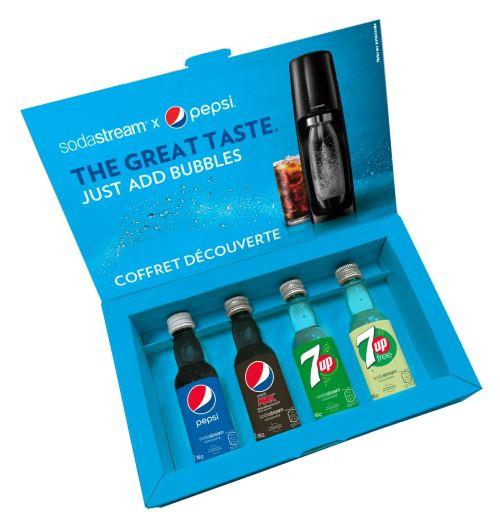 Coffret découverte Sodastream de 4 saveurs Pepsi