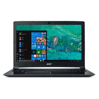 "Acer Aspire 7 A715-72G-76F5 - Core i7 8750H / 2.2 GHz - Win 10 Home 64 bits - 8 GB RAM - 128 GB SSD + 1 TB HDD - 15.6"" IPS 1920 x 1080 (Full HD) - NVIDIA GeForce GTX 1050 - Wi-Fi - obsidiaans zwart - tsb Frans"