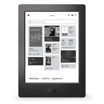 Liseuse numérique Kobo by Fnac - Kobo Aura H2O 1ère édition Noir Reconditionnée