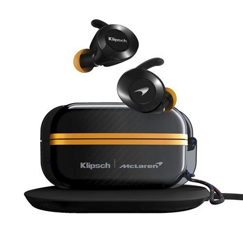 Ecouteurs intra-auriculaires sans fil Klipsch True Wireless Sport Mc Laren Edition Noir
