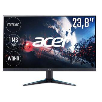 """Acer Nitro VG240YU - LED-monitor - 23.8"""" - 2560 x 1440 QHD - 300 cd/m² - 1 ms - 2xHDMI, DisplayPort - zwart"""