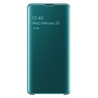 Housse avec affichage Samsung Clear View Vert pour Galaxy S10