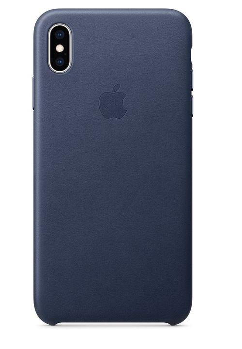 Coque en cuir Apple Bleu nuit pour iPhone XS Max