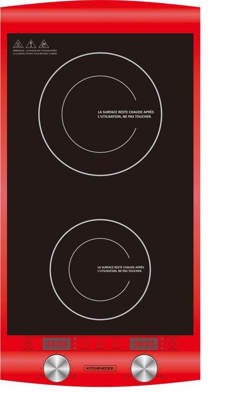 Double plaque de cuisson à Induction Kitchen Cook 2900 W Rouge