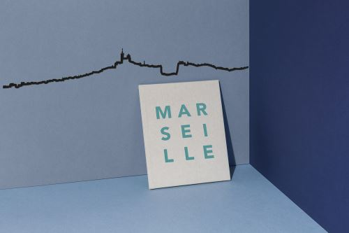 Accessoire de décoration The Line Marseille Noir