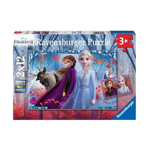 Puzzles 2 x 12 pièces Ravensburger Voyage vers l'inconnu Disney Frozen La Reine des Neiges 2