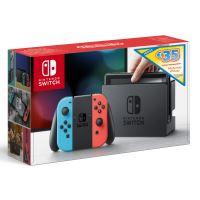 Nintendo Switch met Red en Blue Joy Con+ Eshop Card 35€