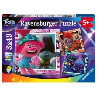 Puzzle Ravensburger Tournée Mondiale Trolls 2 3x49 pièces