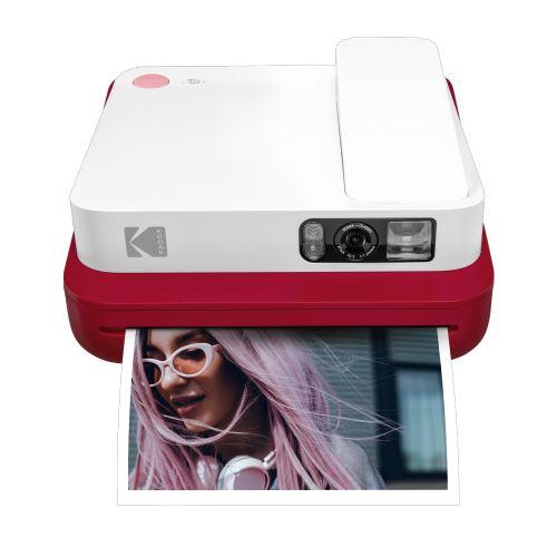 Appareil photo instantané Kodak Smile Classic 2 en 1 Rouge et Blanc