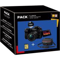 Fnac Pack Panasonic Lumix DC-G9 Hybride Camera Behuizing Zwart + Lens Panasonic 12-60mm f/3,5-5,6 + Hoes Lumix G Zwart + SDHC-Kaart 16GB