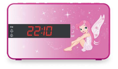 Radio FM avec affichage LED Réveil via Radio ou Buzzer Fonction Sieste, Sleep & Snooze Dimmer : réglage de lintensité lumineuse Haut-parleur intégré Alimentation secteur 230V Piles de sauvegarde 2x LR03 AAA (non fournies)