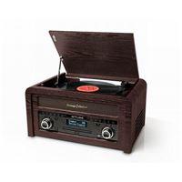 Micro-système CD Muse MT-115 Vintage Collection Bois avec Platine vinyle DAB+