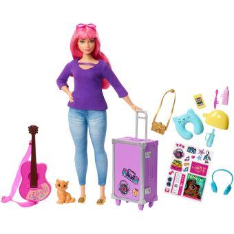 Coffret Poupée Barbie Daisy Avec Accessoires Voyage