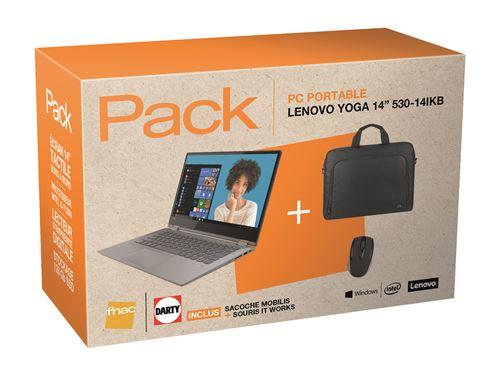 variété de dessins et de couleurs  En liquidation Pack Fnac PC Hybride Lenovo Yoga 530-14IKB 81EK00LBFR 14