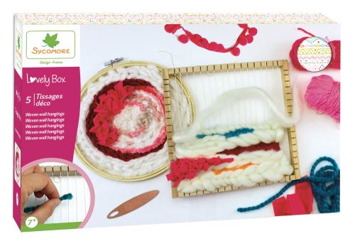 Kit créatif Au Sycomore Lovely Box XL 5 Tissages déco