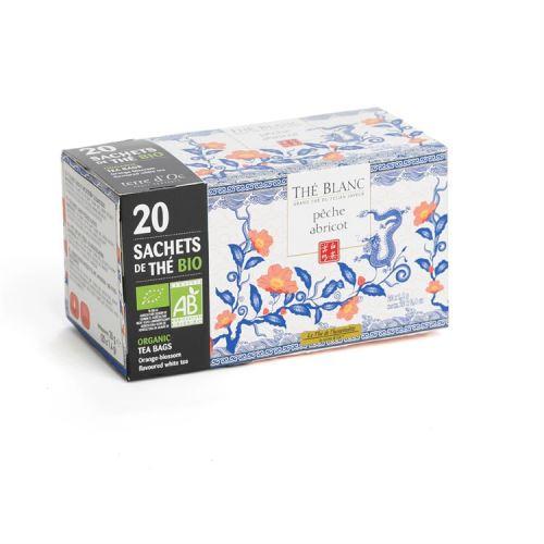20 infusettes Thé blanc bio abricot pêche