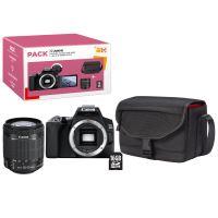Pack Fnac Appareil photo Reflex Canon EOS 250D + Objectif EF-S 18-55 mm f/4-5.6 IS STM + Carte SD 16 Go + Sac d'épaule CB-SB130 Noir