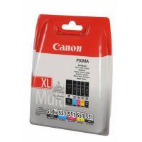 Canon PGI-550/CLI-551 PGBK/BK/C/M/Y Multi Pack - pack de 5 - noir, jaune, cyan, magenta - originale - réservoir d'encre