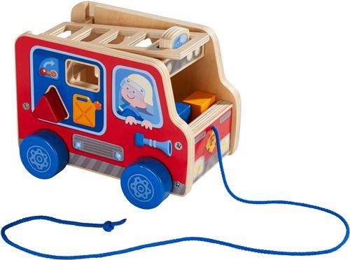 Figurine à tirer Haba Camion de pompiers
