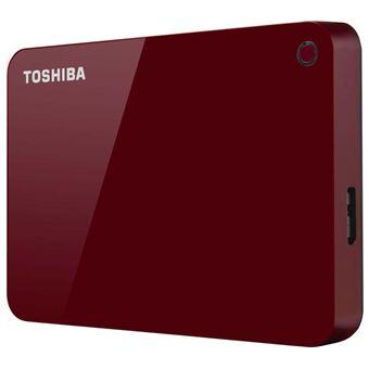 Toshiba Canvio Advance - Vaste schijf - 2 TB - extern (draagbaar) - USB 3.0 - glossy piano red