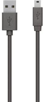 Câble Belkin USB 2.0 Type A Mâle Vers Mini-B 5 broches 1.8 m Gris